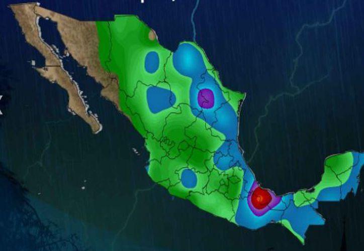 Para hoy se espera cielo nublado, la probabilidad de lluvias es del 50 por ciento, en Chetumal. (Conagua)
