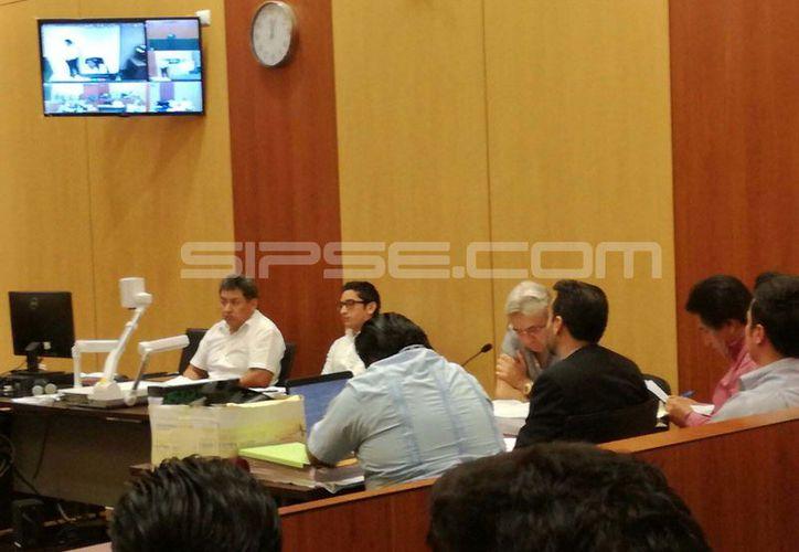 La audiencia de Medina Sonda se realizó virtualmente ya que él se encuentra recluido en Tabasco. (Luis Fuente/ Milenio Novedades)