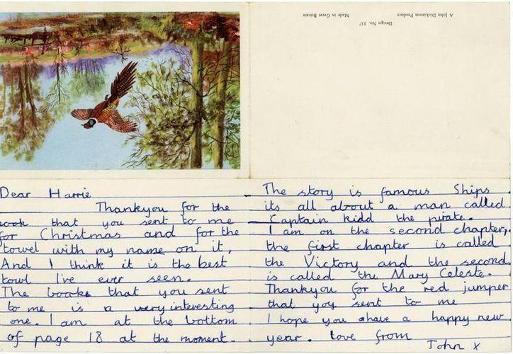 La primera carta de John Lennon, que escribió cuando tenía apenas 11 años de edad, será subastada en internet. (EFE)