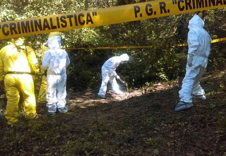 En el lugar encontraron nueve cuerpos completos, ocho semicalcinados y varios restos óseos. (Milenio)