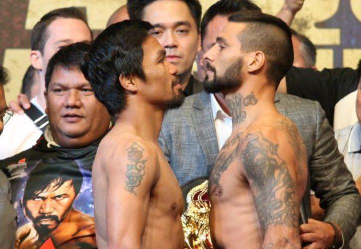 Lucas Matthysse y Manny Pacquiao pelearán este noche en Malasia. (The Star Online)