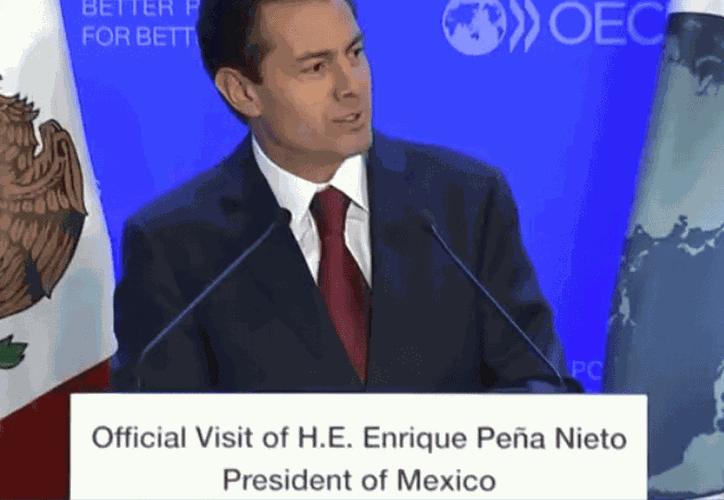 El Presidente de México, Enrique Peña Nieto en París. (Televisa News)