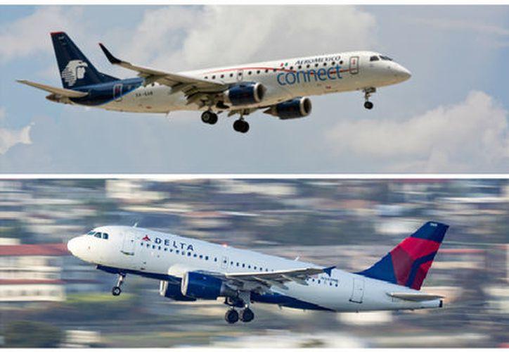 Delta actualmente posee el 36.2 por ciento de las acciones en circulación de Grupo Aeroméxico con la opción de adquirir un 12.8 por ciento adicional. (Milenio)