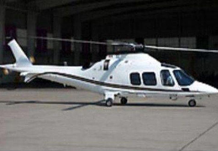 El Gobierno del Estado de México difundió esta imagen del helicóptero extraviado. (@HoyEstado)