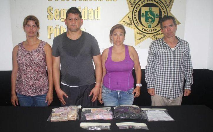 Los cuatro extranjeros quedaron a disposición de la Fiscalía General del Estado (FGE)