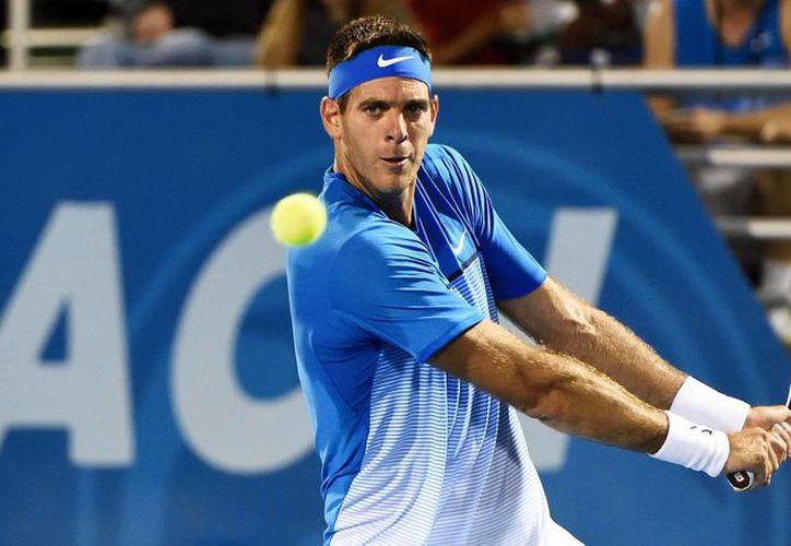 El tenista argentino Juan Martín el Potro se retiró del partido que sostenía ante el belga David Goffin por una molestia en la pierna. (Foto: Nexo Diario)