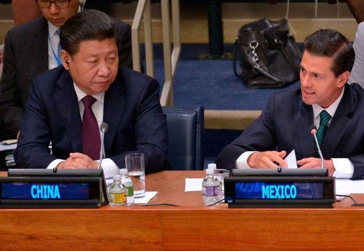 El presidente, Enrique Peña Nieto (der.), estuvo en la Asamblea General de la ONU, en la que participó en una cumbre sobre igualdad de género. (NTX)