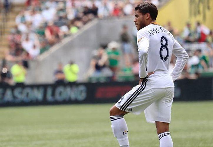 Jonathan dos Santos jugará con el dorsal 8 en Los Ángeles. (Galaxy).