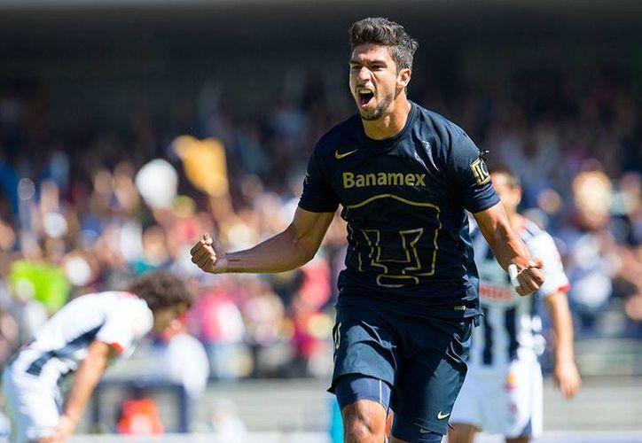 Eduardo Herrera marcó el cuarto gol para el conjunto universitario ante Monterrey. (Facebook/Pumas UNAM)