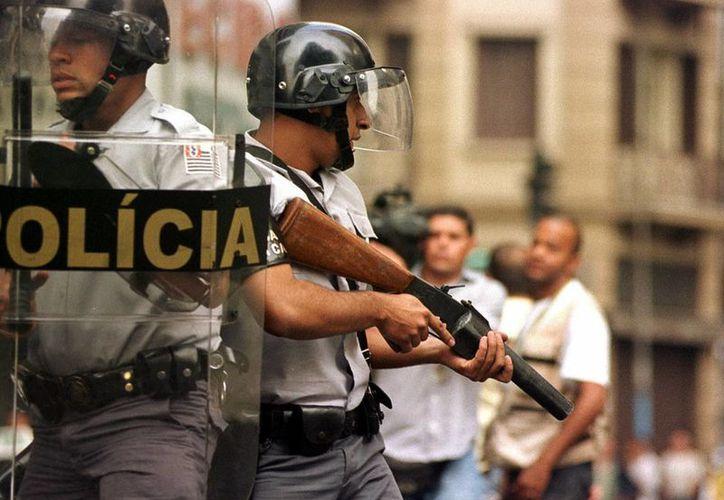 Imagen de unos policías de Sao Paulo. (Archivo/EFE)