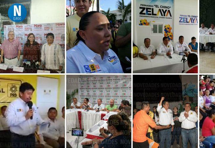 Los candidatos realizaron conferencias y reuniones con sus seguidores.(Redacción)