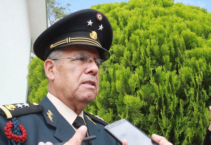 El general brigadier Diplomado de Estado Mayor, Cornelio Casio Hernández. (Jesús Tijerina/SIPSE)