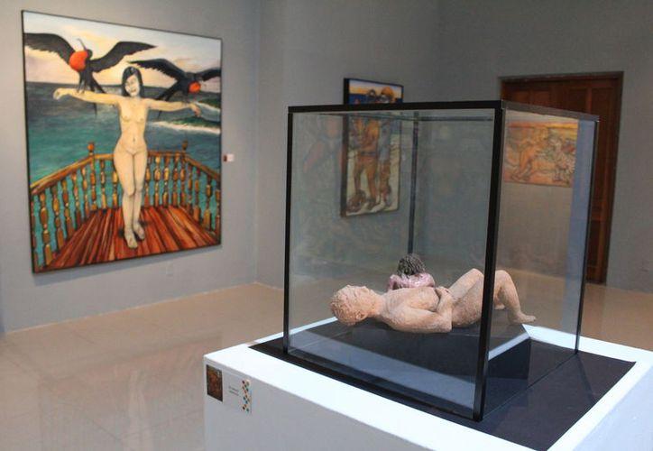 El 15 de diciembre finaliza la exposición 'La muerte se pinta sola', en la sala Dzibanché. (Joel Zamora/SIPSE)