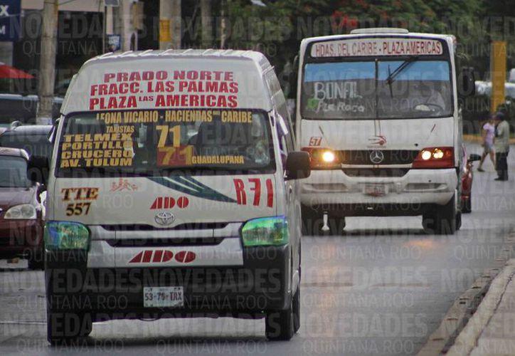 Planean un mega operativo en contra del transporte público para fin de mes. (Jesús Tijerina/SIPSE)