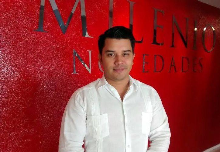 Bruno Manuel Sánchez Canul,  presidente estatal de 'Red Jóvenes por México', anunció el lanzamiento de la convocatoria 'Innovadores Sociales por Yucatán'. (Milenio Novedades)