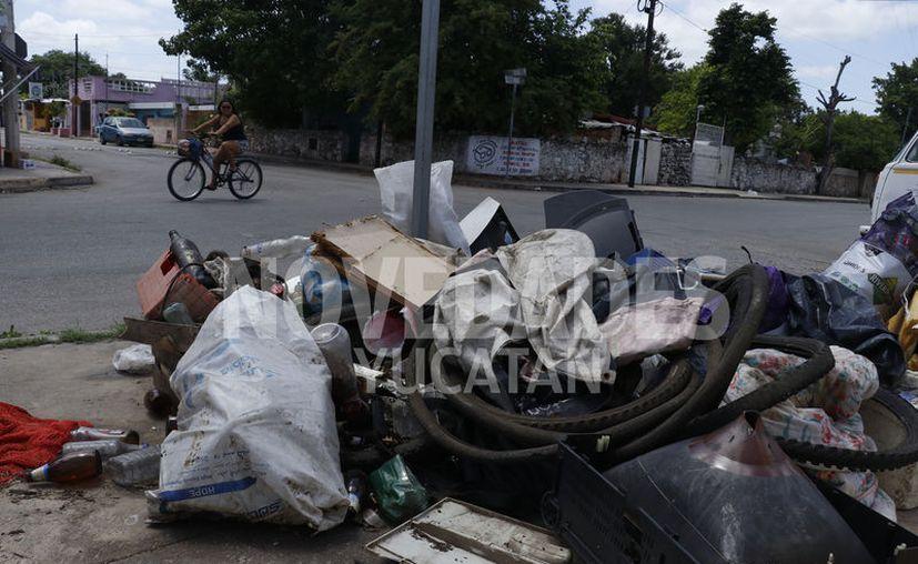 En diversas partes de la ciudad las personas continúan depositando desechos en las esquinas. (José Acosta/Novedades Yucatán)
