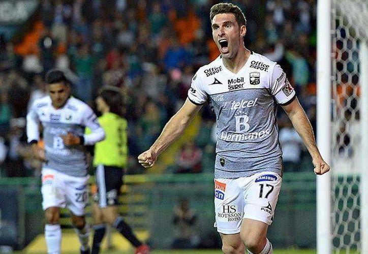 León ganó 3-0 a Xolos en partido de ida de cuartos de final de la liguilla mexicana. En la foto, Boselli, anotador de un tanto. (mexsport.com)