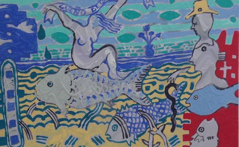 """El cuadro """"Sueño de Quintana Roo"""" tiene que ver con el título de la canción """"Suéñame Quintana Roo"""". (Redacción/SIPSE)"""