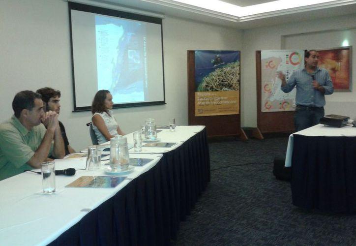Presentan el Reporte de la Salud Ecológica del Arrecife Mesoamericano 2012. (Adrián Barreto/SIPSE)