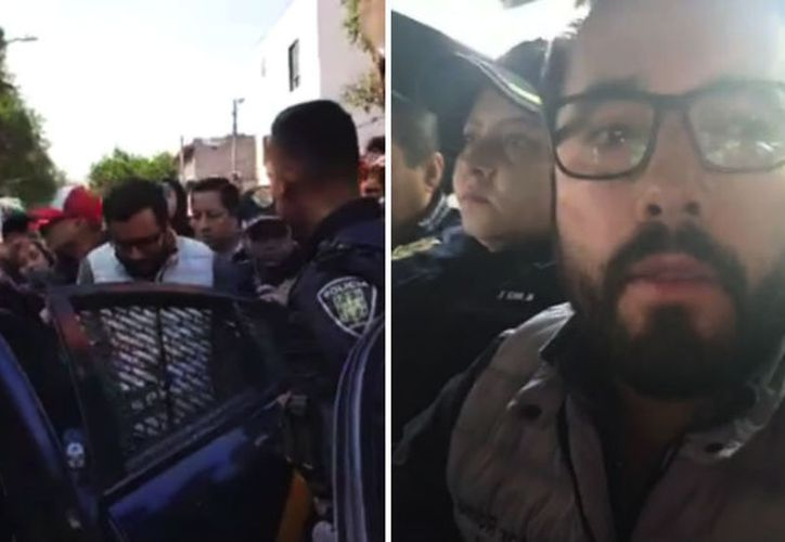 El Alcalde de Miguel Hidalgo, Víctor Romo, fue traslado a un Ministerio Público. (Foto: Especial)