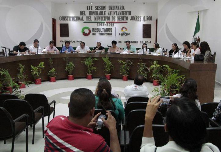Se celebró la Trigésima Sesión Ordinaria del Cabildo de Benito Juárez. (Tomás Álvarez/SIPSE)