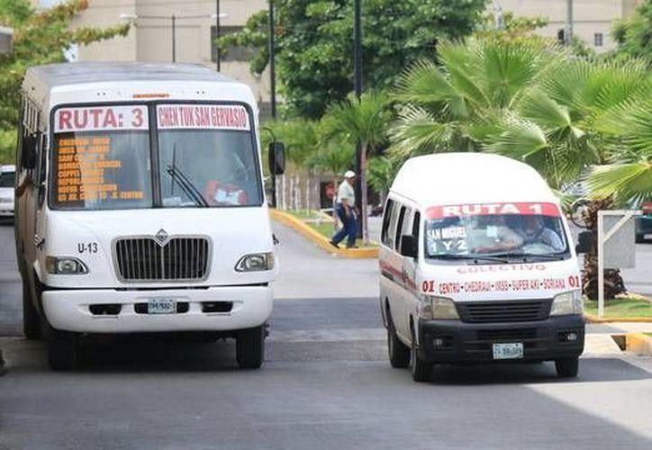 El 15 y 16 de septiembre el transporte público tendrá rutas y paraderos alternos.  (Redacción/SIPSE)