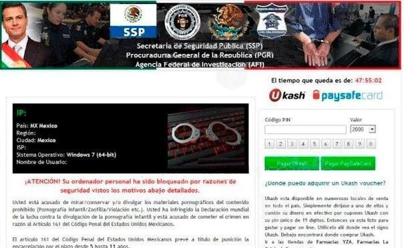 El virus hace creer al cibernauta que debe realizar una transferencia electrónica para continuar utilizando el equipo. (spywareremove.com)