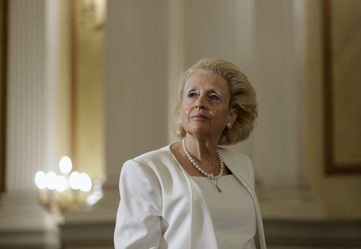 Imagen de Vassiliki Thanou, la primera mujer en asumir el cargo de primer ministro en Grecia, nombrará a su gobierno interino próximamente. (Agencias)