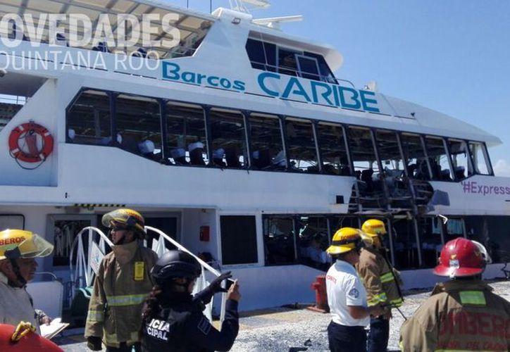 La explosión se dio en la terminal marítima de Playa del Carmen. (Redacción/ SIPSE)
