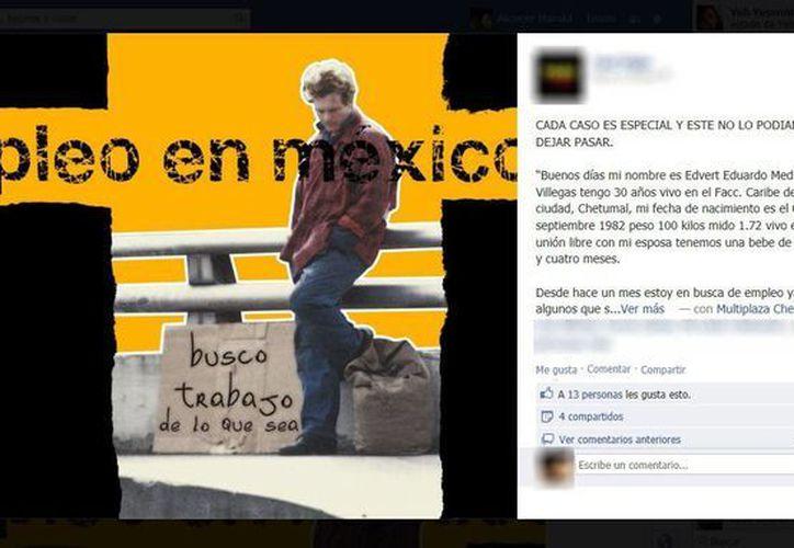 """La cuenta """"Taxi Vigia"""" devela el caso de Edvert Eduardo Medina Villegas, quien desde hace un mes se encuentra en busca de empleo. (Enrique Mena/SIPSE)"""