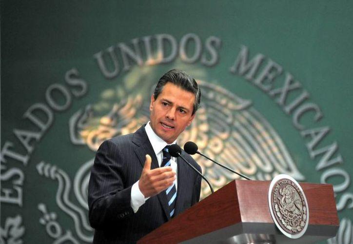 El Presidente dijo que este 2014 hay condiciones reales para el crecimiento de México. (Presidencia)
