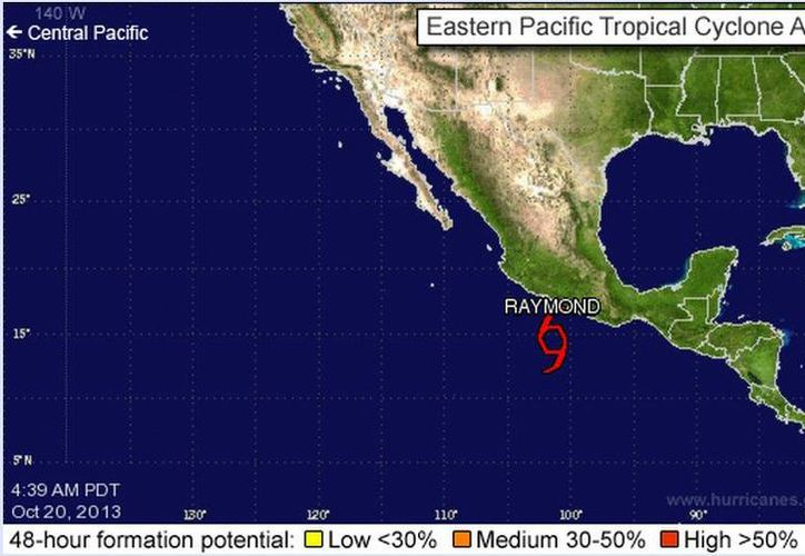 'Raymond' podría convertirse en huracán durante las próximas 48 horas. (Captura de pantalla)