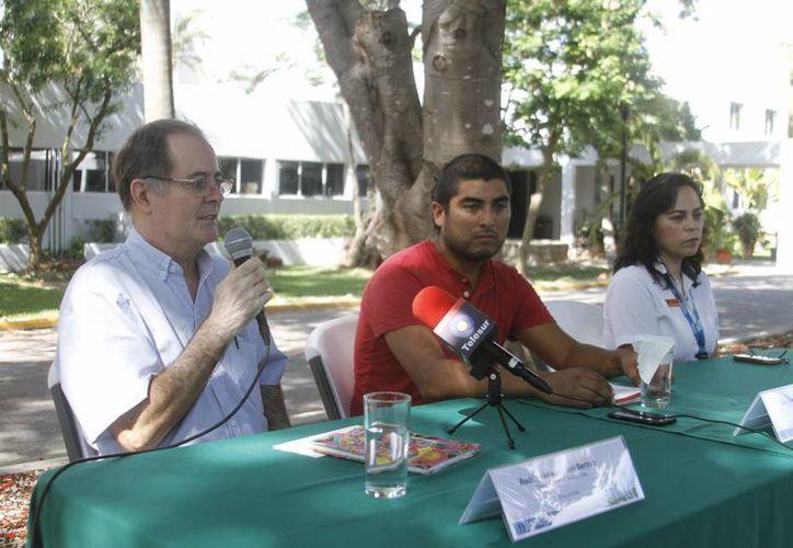 Imagen de la rueda de prensa del evento EcoCultivate que se realizará en las instalaciones del CICY. (César González/SIPSE)