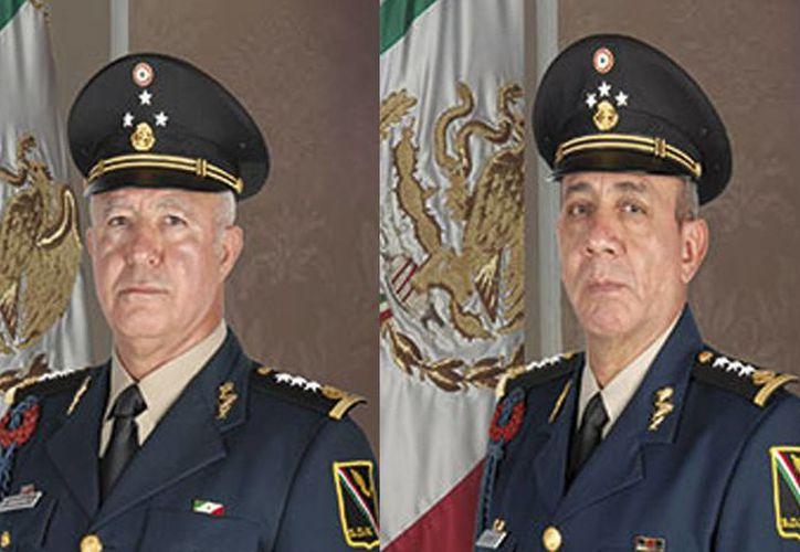 Generales Noé Sandoval Alcázar y Gilberto Hernández Andreu, nuevos subsecretario y oficial mayor de la Sedena. (sedena.gob.mx)