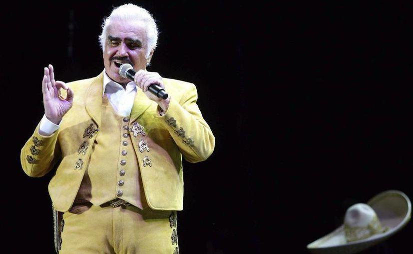 Vicente Fernández durante un concierto en Guadalajara el 16 de febrero con motivo de su gira de despedida. (EFE/Archivo)