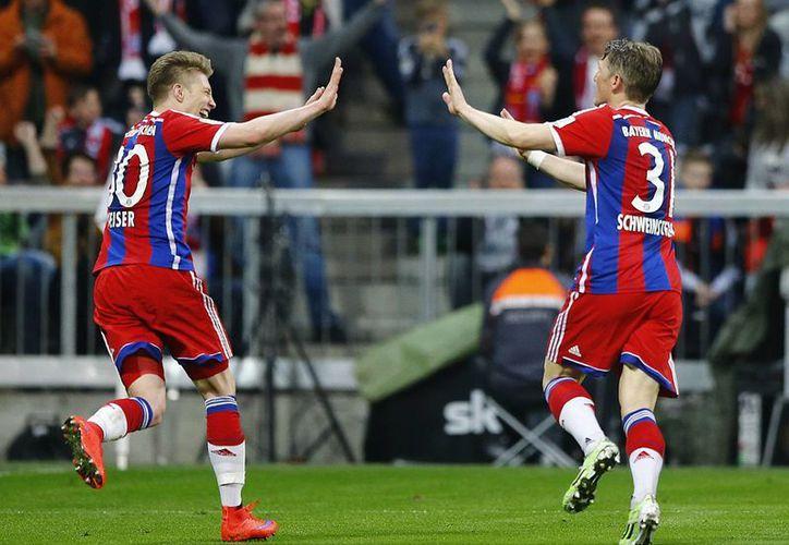 A 10 del final, Schweinsteiger puso al Bayern en la antesala del título. (Foto: AP)