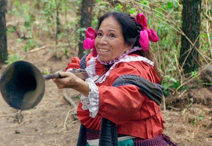 María Elena Velasco, La India María, quien falleció este viernes 1 de mayo de 2015, estuvo ausente 15 años del cine. Regresó en 2014, con la película La Hija de Moctezuma, y dio una entrevista en que habló de su personaje. (Archivo/NTX)