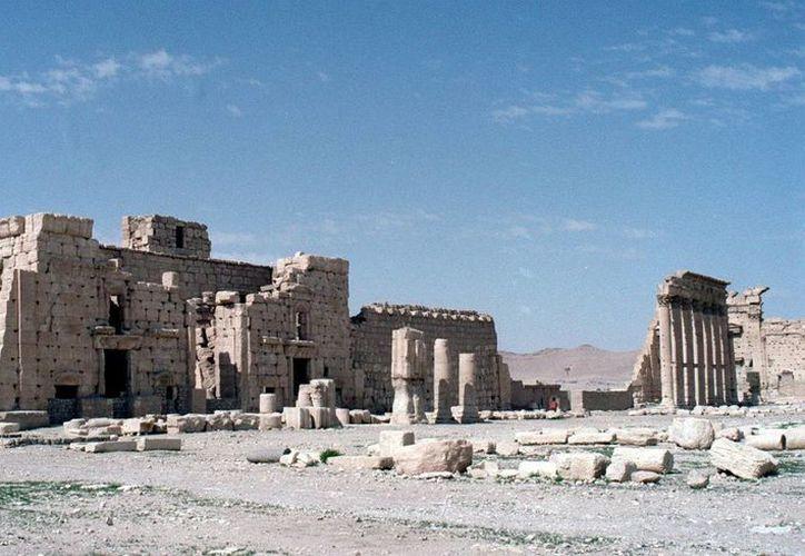 Se dio a conocer que el destacado arqueólogo Jaled Asaad fue decapitado por el Estado Islámico. Vista del conjunto arquitectónico del templo de Bel, en las ruinas grecorromanas de Palmira. (Archivo/EFE)
