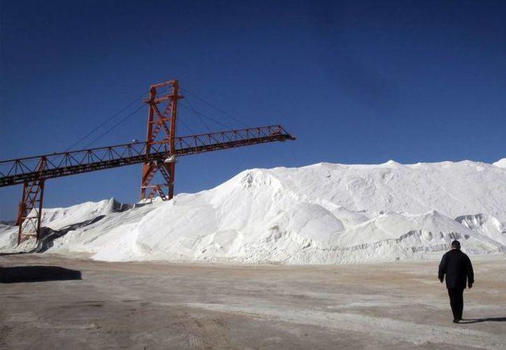 La Exportadora de Sal tiene mil 300 trabajadores actualmente. (Notimex)