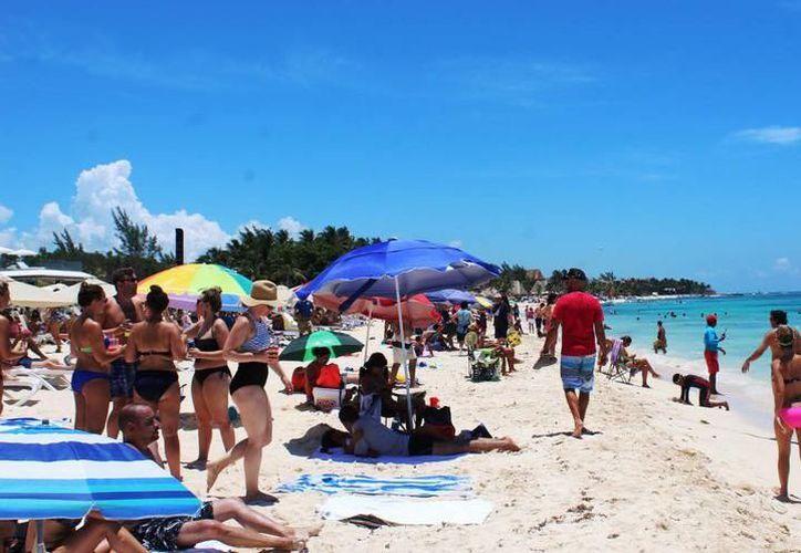 La afluencia de turistas en Solidaridad incrementó 6.23% en el primer semestre del año. (Foto: Contexto/SIPSE)