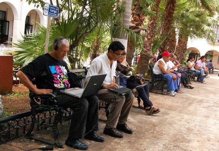 Mérida tiene más de 202 puntos con servicio de internet gratuito. (Archivo/Sipse)