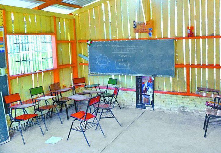 Las aulas vacías de la secundaria Amado Nervo. (Milenio)
