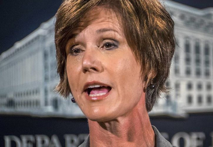 Sally Yates había dicho que su departamento no defendería el decreto antimigratorio del Presidente. (AP)