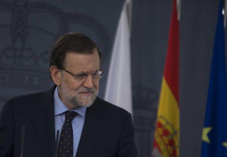 Mariano Rajoy llamó a que prevalezca el diálogo en el proyecto independentista catalán. (AP)