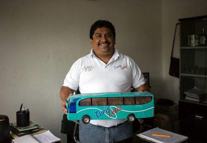 Andrés Poot Alonzo, líder de los transportistas de  la Amotac, aseguró que el bloqueo no afectará a terceros, ni incurrirá en delitos federales. (Milenio Novedades)