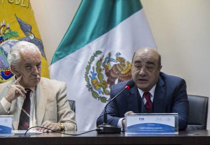 El titular de la PGR, Jesús Murillo Karam, indicó en la capital ecuatoriana que la investigación por la muerte de la pequeña Noemí 'llegó muy lejos'. (EFE)