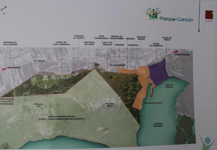 Plano del proyecto del parque que se construirá. (Luis Soto/SIPSE)