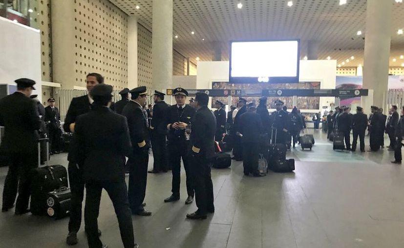 El paro de labores fue hecho en protesta por el despido del Capitán José Manuel Orduña. (@JulioCésar_Cano)