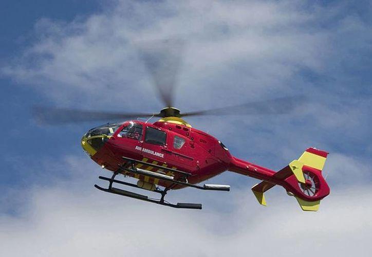 El accidente del helicóptero ambulancia se registró la madrugada de este sábado. Imagen de contexto. (air-ambulance-services.regionaldirectory.us)
