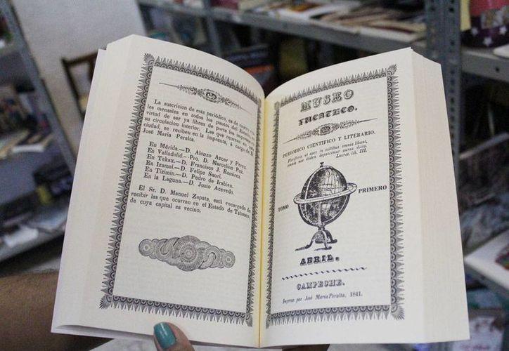 Museo Yucateco, primera revista literaria de la región, se publicó entre enero de 1841 y mayo de 1842, y ahora será vuelta a publicar como facsimil. (Cortesía)